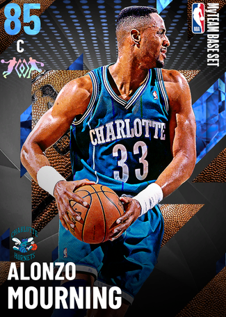 '00 Alonzo Mourning sapphire card