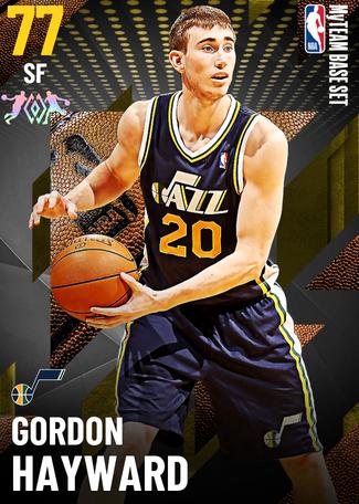 '16 Gordon Hayward gold card
