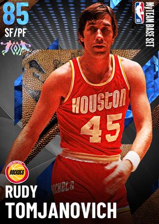 '74 Rudy Tomjanovich sapphire card