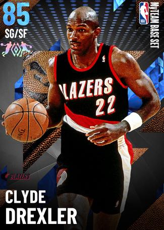 '98 Clyde Drexler sapphire card