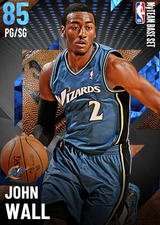 '19 John Wall sapphire card