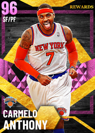 '13 Carmelo Anthony pinkdiamond card