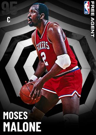 '95 Moses Malone onyx card