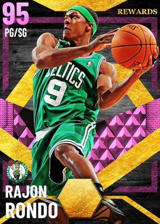 Rajon Rondo pinkdiamond card